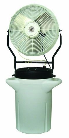 """TPI Corporation PM-18S Self Contained Power Mister, 10 Gallon Cooler, Single Phase, 18"""" Diameter, 120 Volt by TPI. $588.56. Our 18"""" portable, self-contained, misting fan comes with 10 gallon reservoir cooler. Cart models are also available for easy transportation. With the option for """"fan only"""" or """"fan and mist"""" the possibilities for this little mister are endless!. Save 28% Off!"""