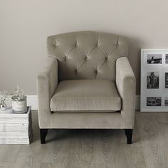 Eaton Armchair - Silver & Stone | The White Company