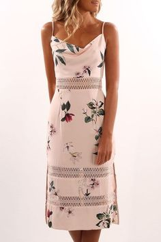 Do It Right Dress Light Garden Floral #mididress