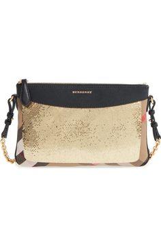0a4707ae4953 Burberry  Peyton  House Check   Sequin Crossbody Bag