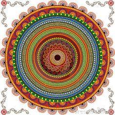 Fundo colorido da mandala do Henna