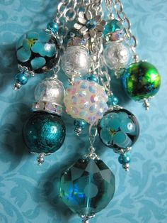 Ladies Christmas Gift Purse Charm Key Chain Handmade Handbag Accessory #314 #HandmadeBySellerMrsBowDangles