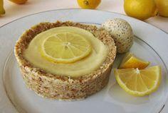 Fragrant Vanilla Cake: Raw Little Lemon Tart with Lemon Almond Poppyseed Ice Cream