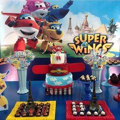 #mulpix Festa: Super Wings. Tema muito legal para os meninos!!! . Decor: @criancices |Bolo: @vaniaelihimas  #DentroDaFesta