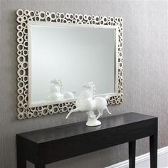 Amalfi Rectangular Silver Mirror