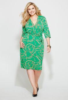 Wrap idea for reception Plus Size Chain Wrap Dress | Plus Size Special Sizes | Avenue
