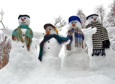 Four Snowmen