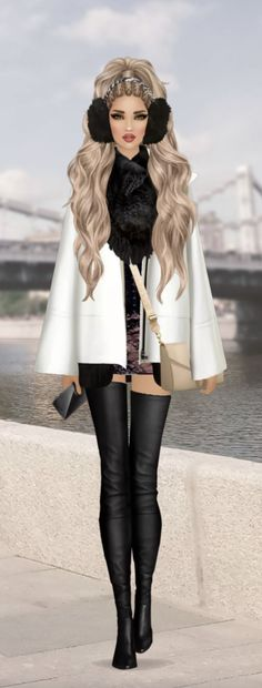 Covet Fashion, Girl Fashion, Black And White Illustration, Puzzles, Summer Outfits, Coats, Couture, Game, Girls