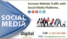 Social media marketing is now an important tool when it comes to promoting businesses. Digital resource is the internet marketing company which combines effective strategies and creative ideas with the team of specialist to deliver outstanding results. For more details, please call us today at (561) 429-2585