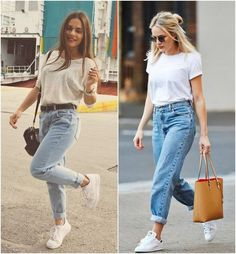 25 super Ideas for style vintage outfits boyfriend jeans Mode Outfits, Jean Outfits, Trendy Outfits, Fashion Outfits, Outfits With Mom Jeans, Mom Jeans Outfit Summer, Summer Pants, Light Blue Ripped Jeans, Ripped Jeans Men