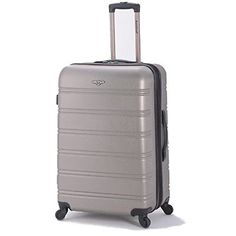 Amazon.com | Rockland Luggage Melbourne 20 Inch Expandable Carry On, Purple, One Size | Carry-Ons