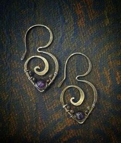 Amethyst and purple aventurine wrapped in sterling by GypsyLotusCo, $46.00