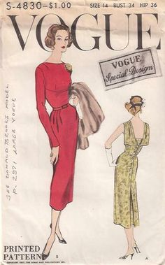 Vogue S-4830, ca 1957; Sz 12/Bust 32