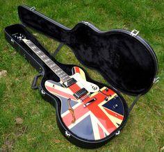 Union Jack Epiphone Electric Guitar + Case - Mod / Britpop Oasis Noel Gallagher