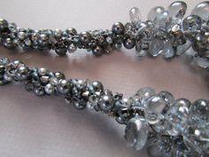 Crystal Quartz Kumihimo Necklace Rhinestone by NoGlitzNoGlory