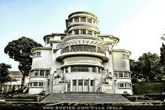 Villa Isola, Bandung, West Java, Indonesia. Colonial building designed by Dutch architect WP Schoemaker on October 1932.