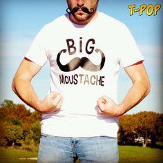Un tshirt pour les porteurs de moustache, les vrais !