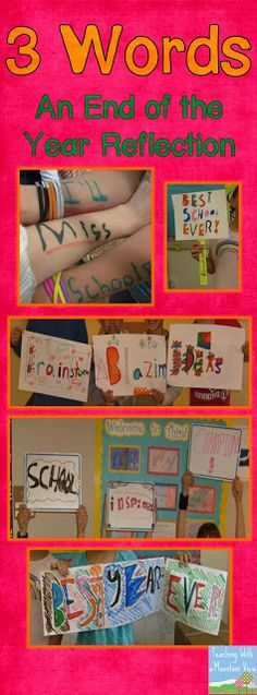 End of the Year 3 Words Activity - can actually do at both the beginning and end of year to see their differences!