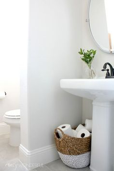 Modern Design Of Powder Room Ideas