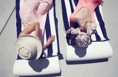 Sun, secrets and stripes with your best friend. @J.Crew