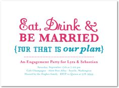 Our Plan- Wedding Paper Divas
