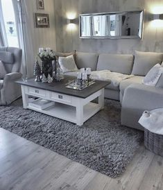 Most comfortable and cozy living room ideas - Wohnen - Apartment Decor Casual Living Rooms, Living Room Decor Cozy, Living Room Grey, Living Room Interior, Home Living Room, Apartment Living, Grey Room, Rustic Apartment, Cozy Apartment