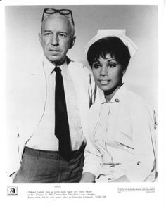 "I remember watching ""Julia"" as a child/pre-teen.  It starred Diahann Carroll and Lloyd Nolan."