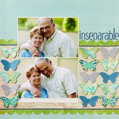 """Grandparent """"inseparable"""" layout #couple #love #butterflies"""