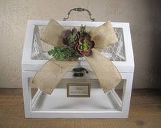 Diy Wedding Card Box Chicken Wire And Wood Google Search Card