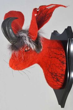 hare trophy head pattern | patterns, felting and stitch, Innedesign