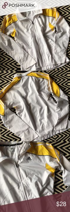 Adidas windbreaker Excellent condition. Adidas windbreaker. Size small. 100% polyester. Pockets Adidas Jackets & Coats