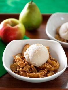 Pear and Apple Crumble (Vegan and Vegetarian friendly)