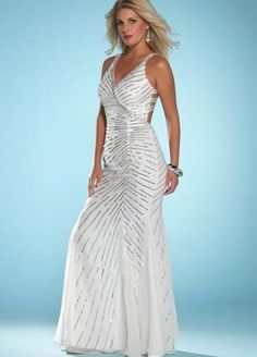 2013 Style Sheath _ Column V-neck  Paillette Sleeveless Floor-length Chiffon White Prom Dress _ Evening Dress. br_Product Name2013 Style Sheath _ Column V-neck  Paillette Sleeveless Floor-length Chiffon White Prom Dress _ Evening Dressbr_br_Weight2kgbr_br_ Start From1 Unitbr_br_ Hemline _ TrainFloor-lengthbr_br_S.. . See More V-Neck at http://www.ourgreatshop.com/V-Neck-C964.aspx