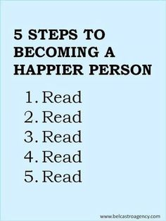 5 steps to becoming a happier person : read!!!
