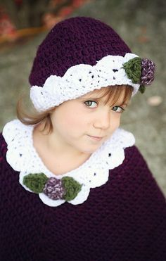 Crochet Beanie Hat and Poncho Pattern - $5.95
