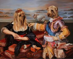«Un grand voyage tranquille Dog Artwork, Poster Pictures, Dog Paintings, Animal Faces, Dog Dresses, Dog Portraits, French Artists, Art Google, Art Projects