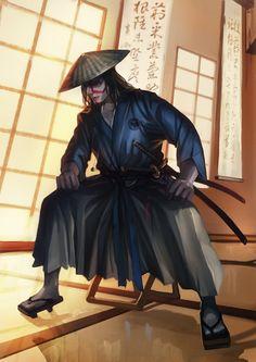 comm: L5R Kuni Samurai by unrealsmoker on DeviantArt