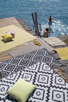 """Outdoor-Teppiche für Balkon und Garten: """"Braid"""" von Ruckstuhl"""