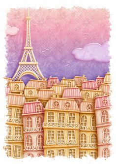Paris by Day/Paris by Night by KJ Illustration, via Behance