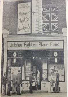 Richmond store WWII, converted to raise funds for a RAF Spitfire aircraft on behalf of the town. Raise Funds, Old London, Looking Back, Wwii, Aircraft, History, City, Aviation, Historia