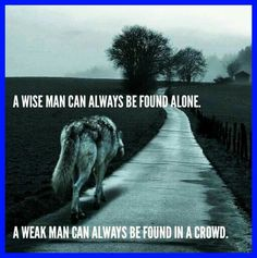 A wise man can always be found alone ... A weak man can always be found in a crowd ... #dancingwithdamien #thedamien #lifequotes #life #wiseman #alone #weak #man #crowd