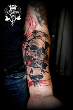 tattoo trash polka skull