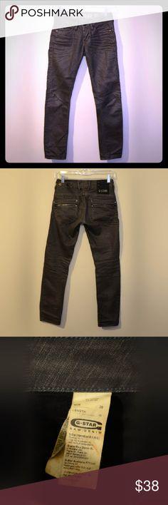 G-Star RAW Denim Skinny Jeans Charcoal colored dark gray skinny jeans by G-Star RAW G-Star Pants Skinny