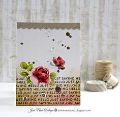 just saying hello card by Joni Andaya (Altenew Painted Butterflies, Vintage Roses)