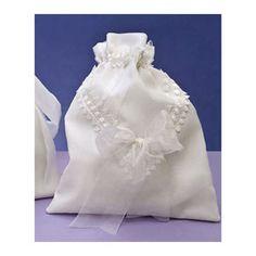 Bolso para novia con encajes