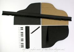 A perfect waste of time: Template for a piano card