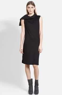 Rick Owens Suede Hood Jersey Tunic Dress available at #Nordstrom