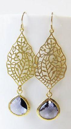 I could add gem drops to my silver filigree earrings. Tanzanite Filigree Earrings