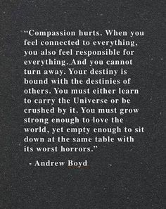 """When you feel connected to everything ..."" -Andrew Boyd"