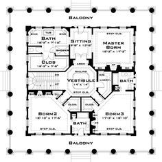 House plans Home design and Southern plantations on Pinterest